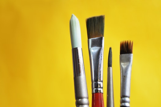 Free stock photo of bright, artist, brushes, close-up