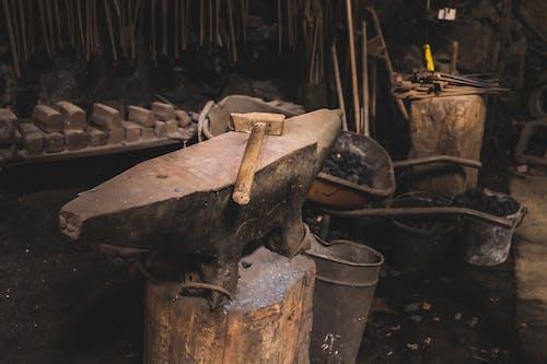 Free stock photo of coal, craftsmanship, dusty, hammer