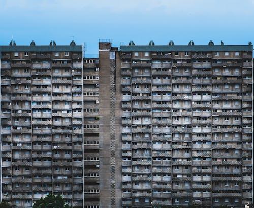 Free stock photo of balconies, balcony, blue, city