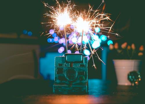 Immagine gratuita di celebrazione, fotocamera, fuochi d'artificio, polaroid