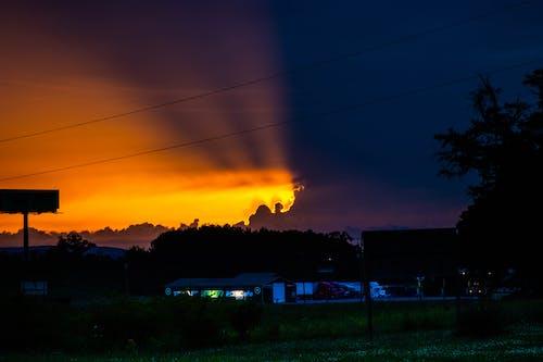 Fotobanka sbezplatnými fotkami na tému krajinka, lúč, noc, nočná obloha