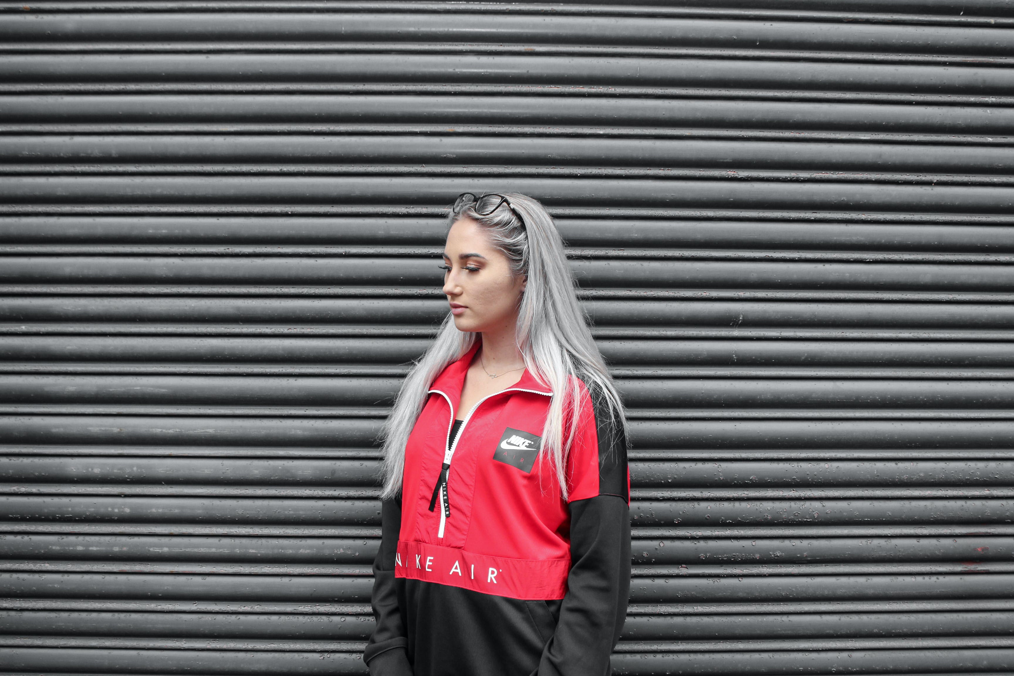 Woman In Black And Red Jacket