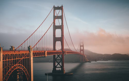 Photos gratuites de architecture, brouillard, californie, golden gate