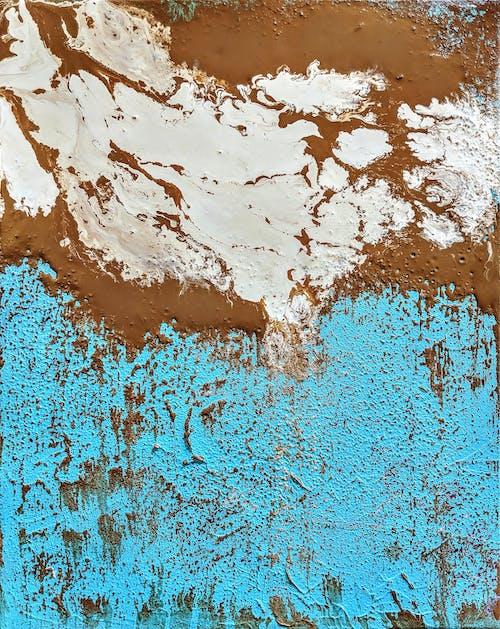 Kostnadsfri bild av abstrakt målning, brun, koppar, turkos