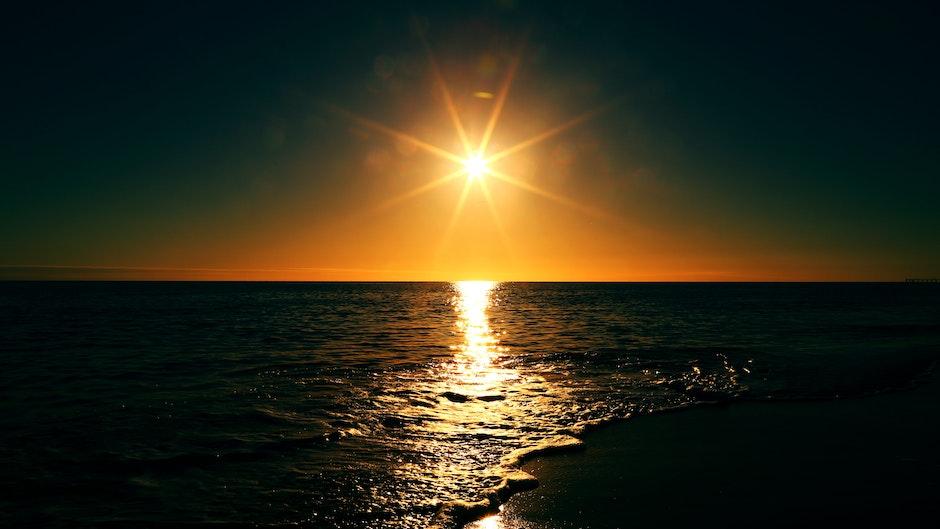 horizon, salt water, sea