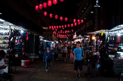 Kostnadsfri bild av arkitektur, asiatiska människor, butiker, byggnader