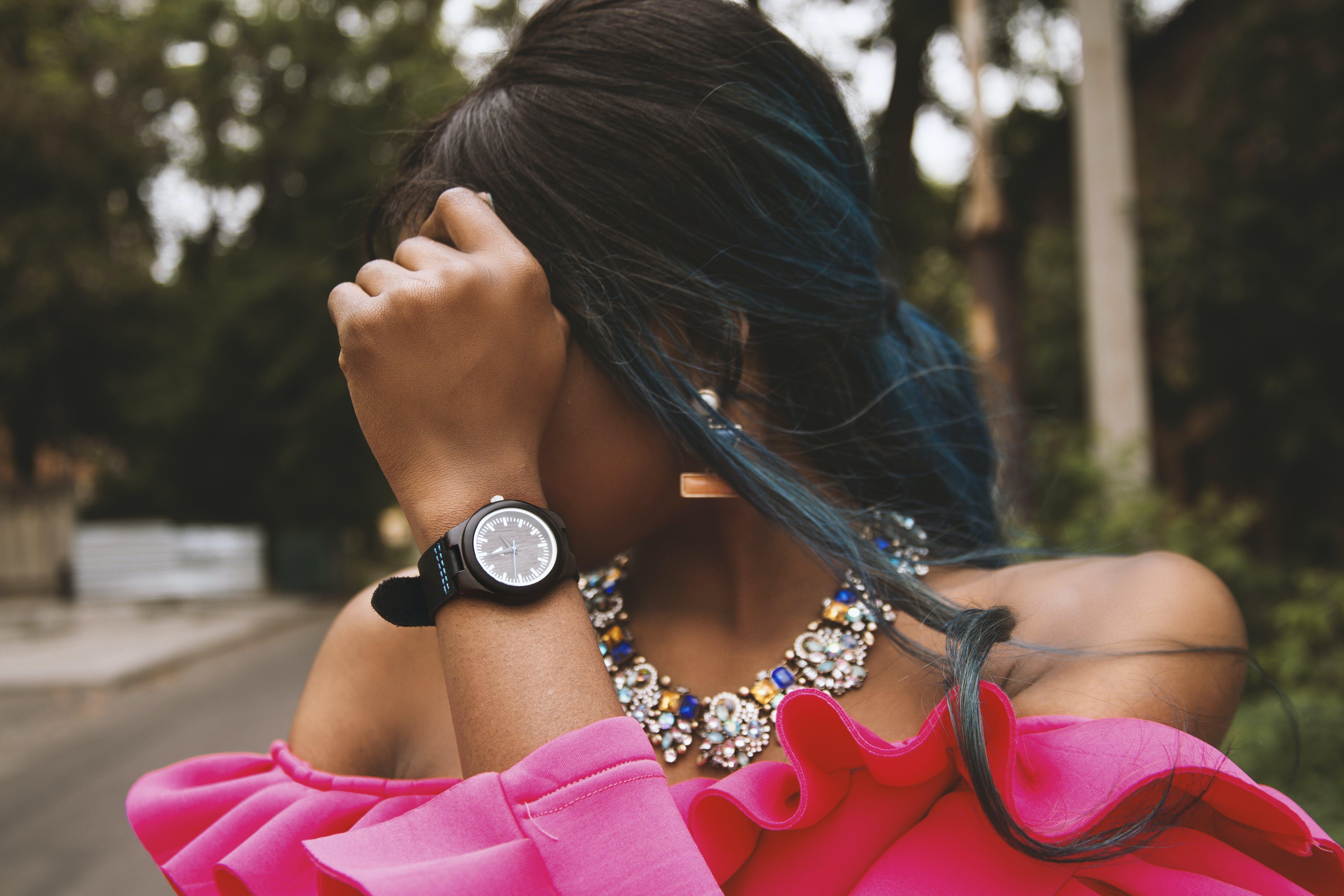 Women's Pink Off-shoulder Blouse