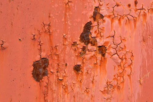 Free stock photo of cracks, paint, rust, spots