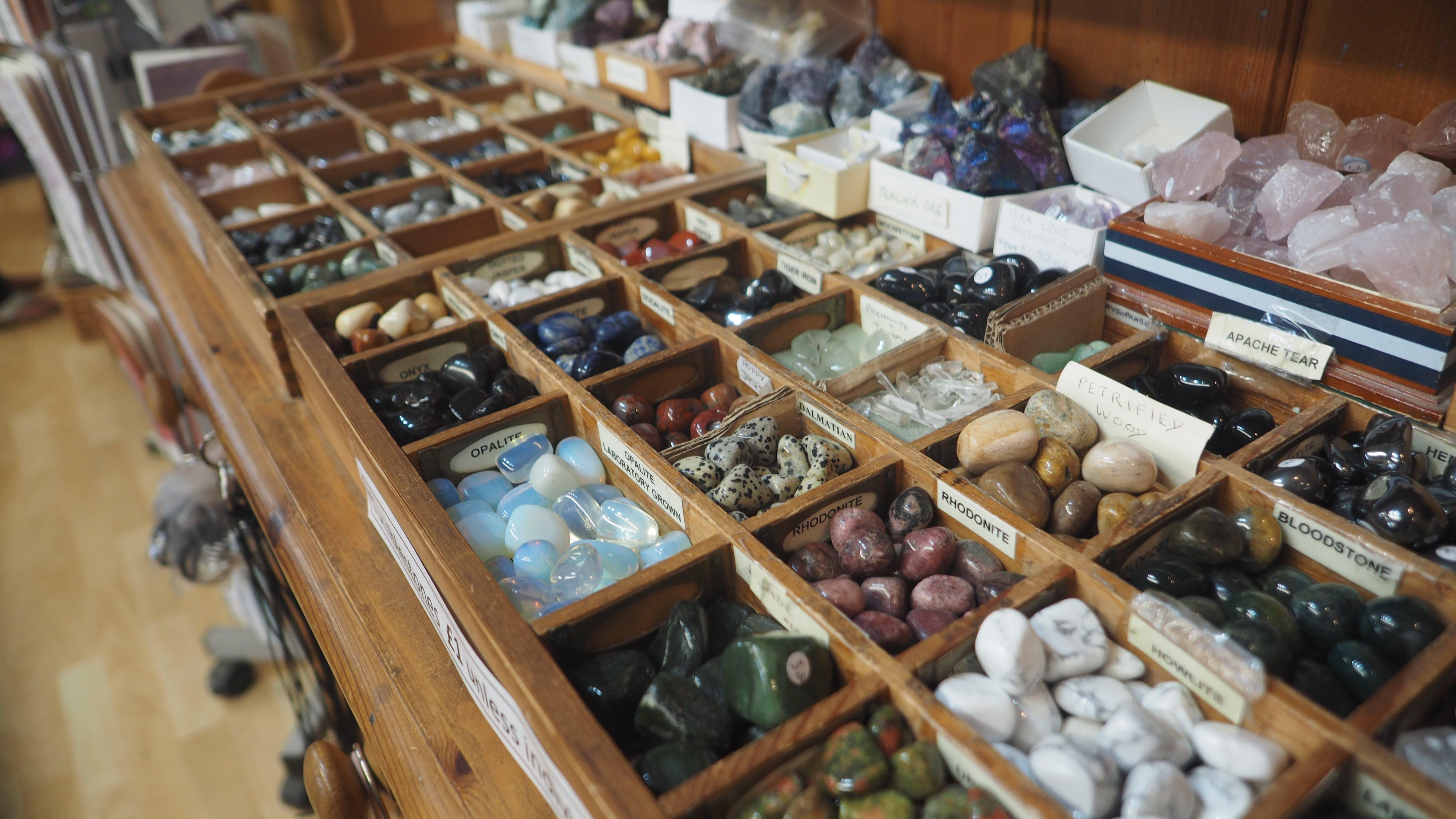 Free stock photo of crystal, crystals, gems, gemstones