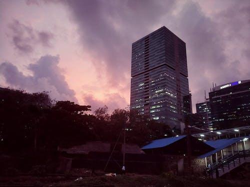 傍晚的天空, 城市, 夜燈, 孟買 的 免費圖庫相片