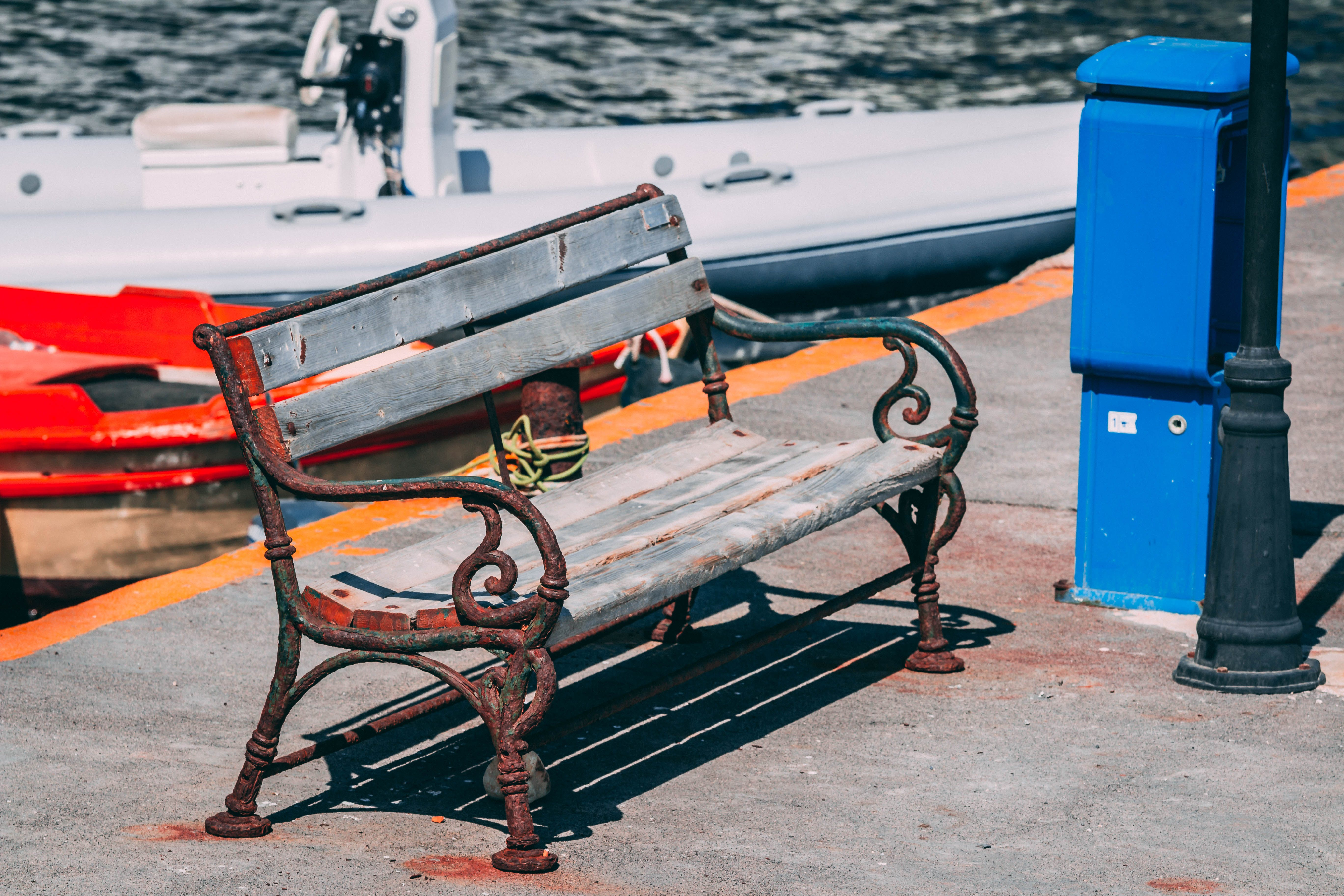 Free stock photo of bench, rusted