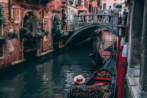 ゴンドラ, タウン, ブリッジ, ベネチアの無料の写真素材