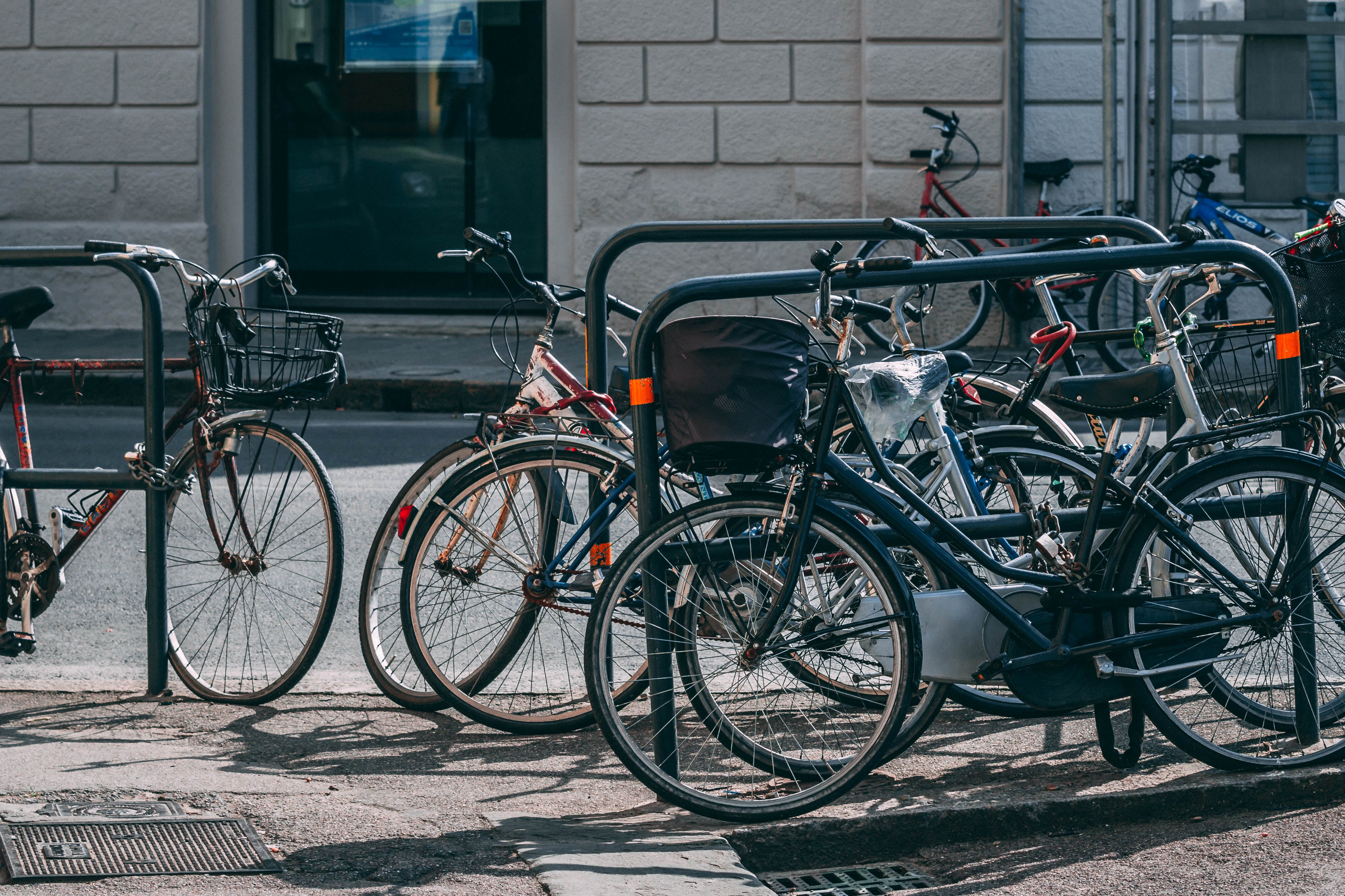 Free stock photo of bicycle, bicycle parking