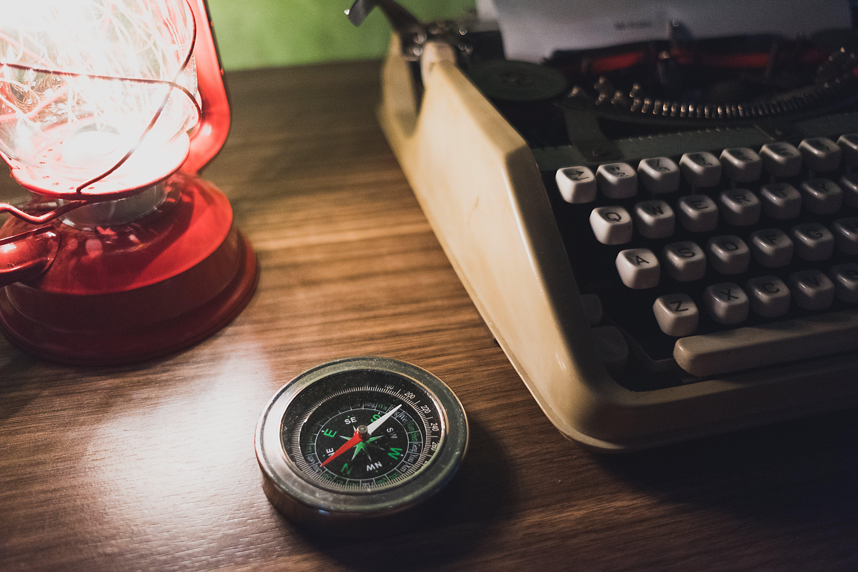 Gray Cardinal Direction Compass