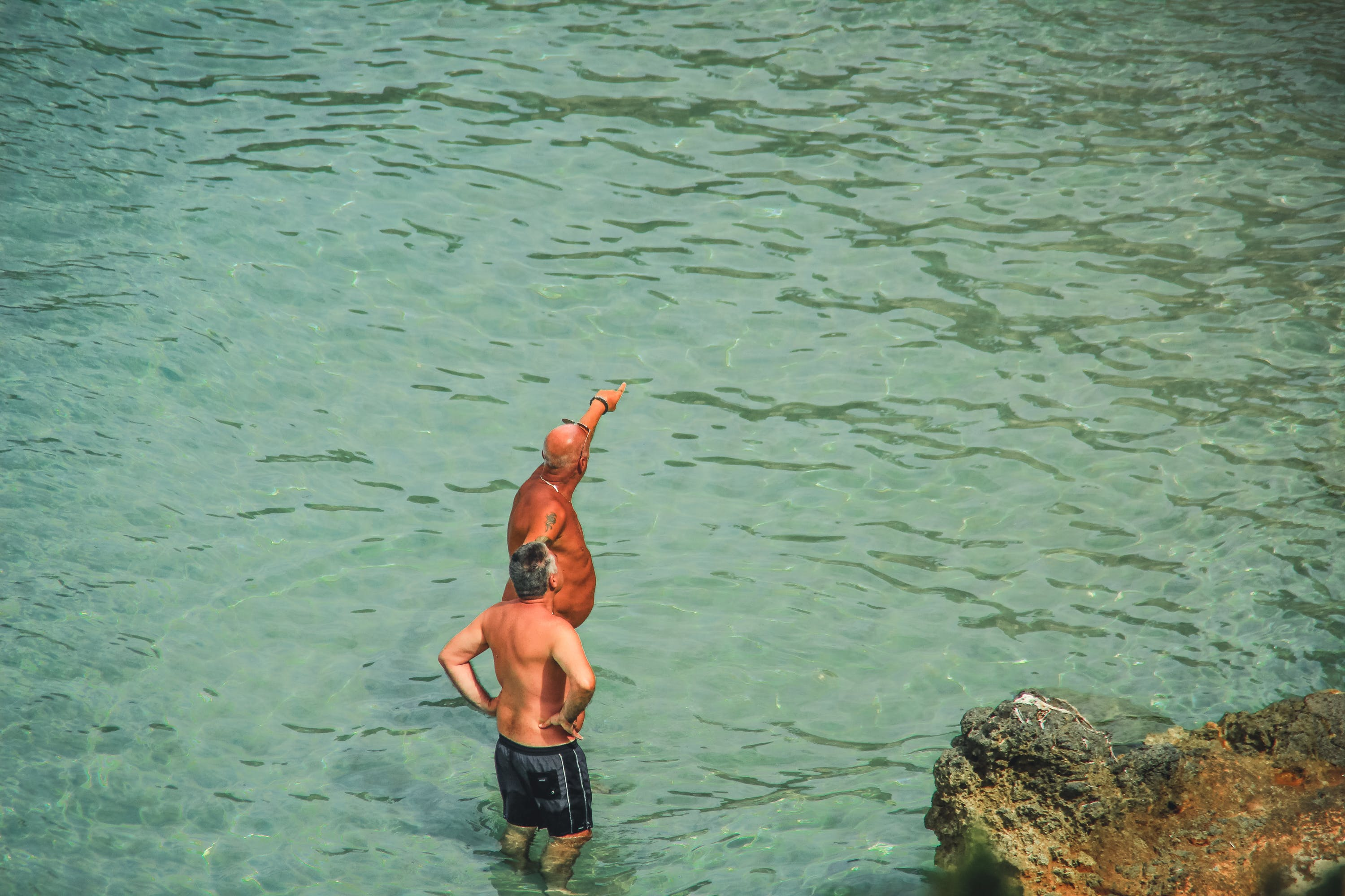 Free stock photo of blue water, body of water, Ibiza, man at the ocean