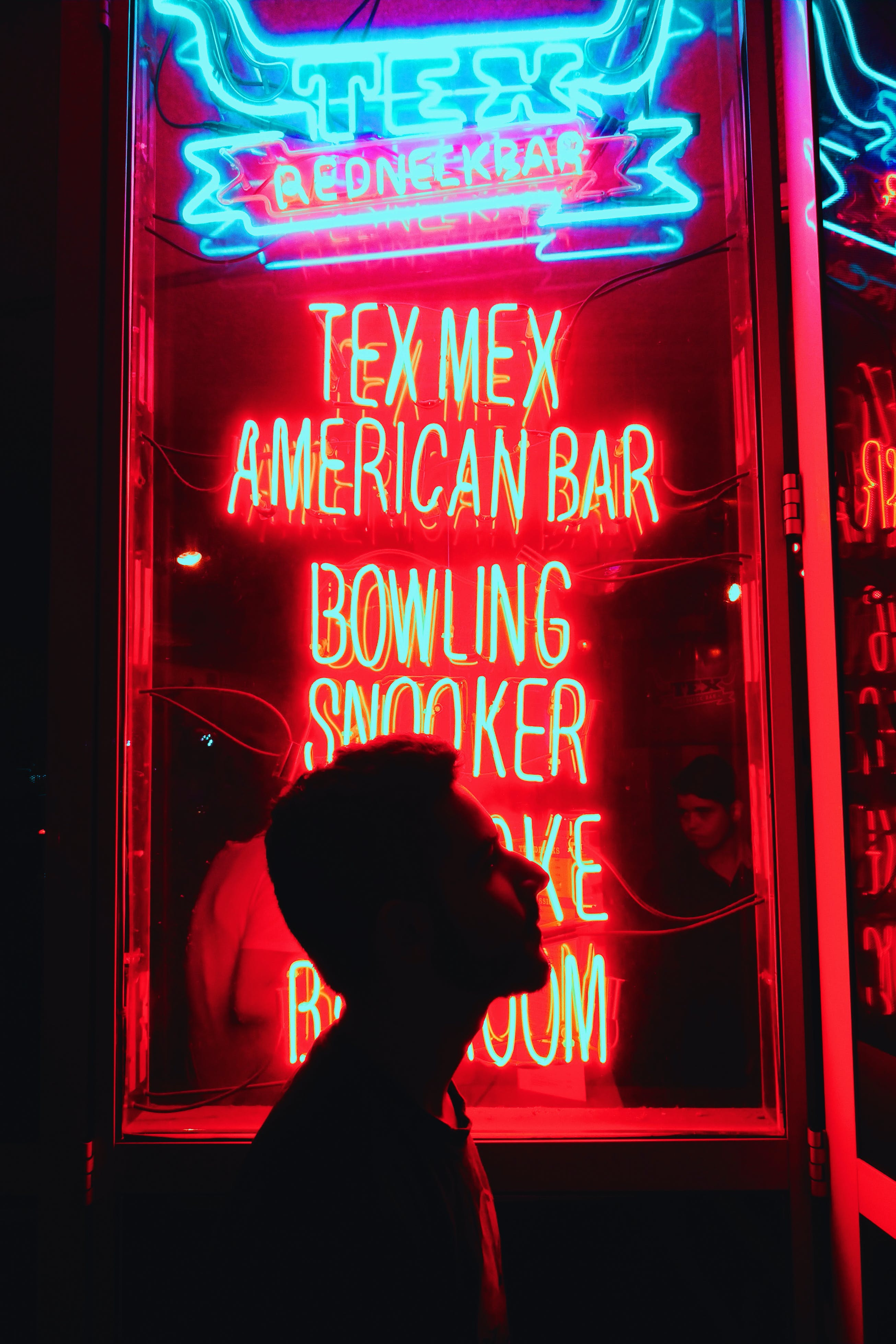 Kostenloses Stock Foto zu abbildung, amerikanisches neon, beschilderung, blau