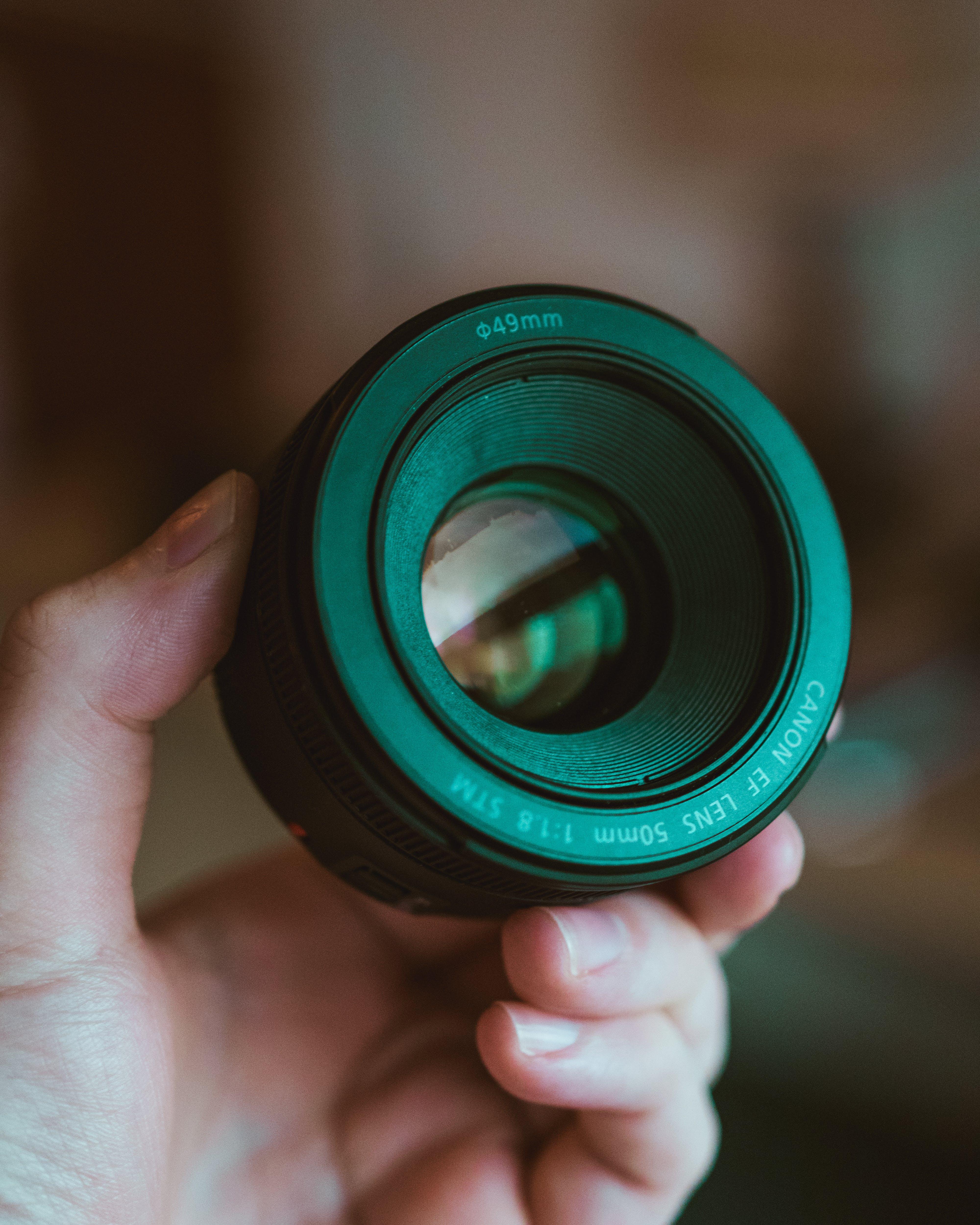 49 Mm Black Canon Lens