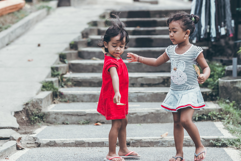 可愛, 女性, 孩子, 小 的 免费素材照片