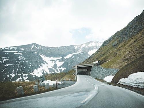 Grey Road Near Mountain