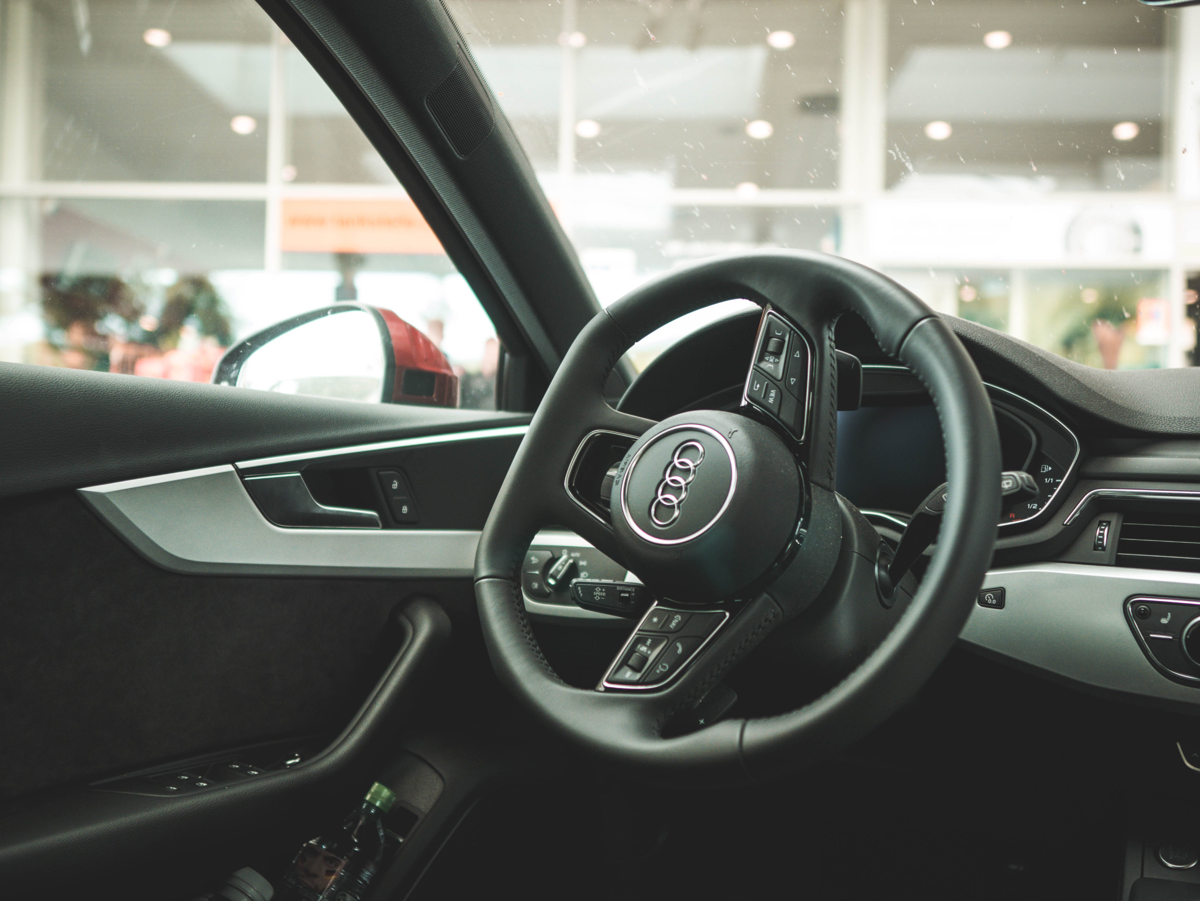 Black and Gray Audi Vehicle Interior