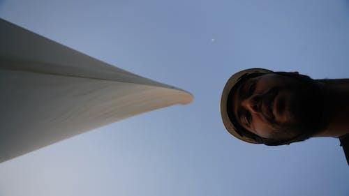 Fotos de stock gratuitas de autofoto, energía eólica, media Luna, selfi