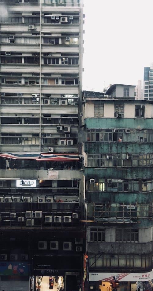 Ilmainen kuvapankkikuva tunnisteilla arkkitehtuuri, hongkong, kaupunki, kerrostalo