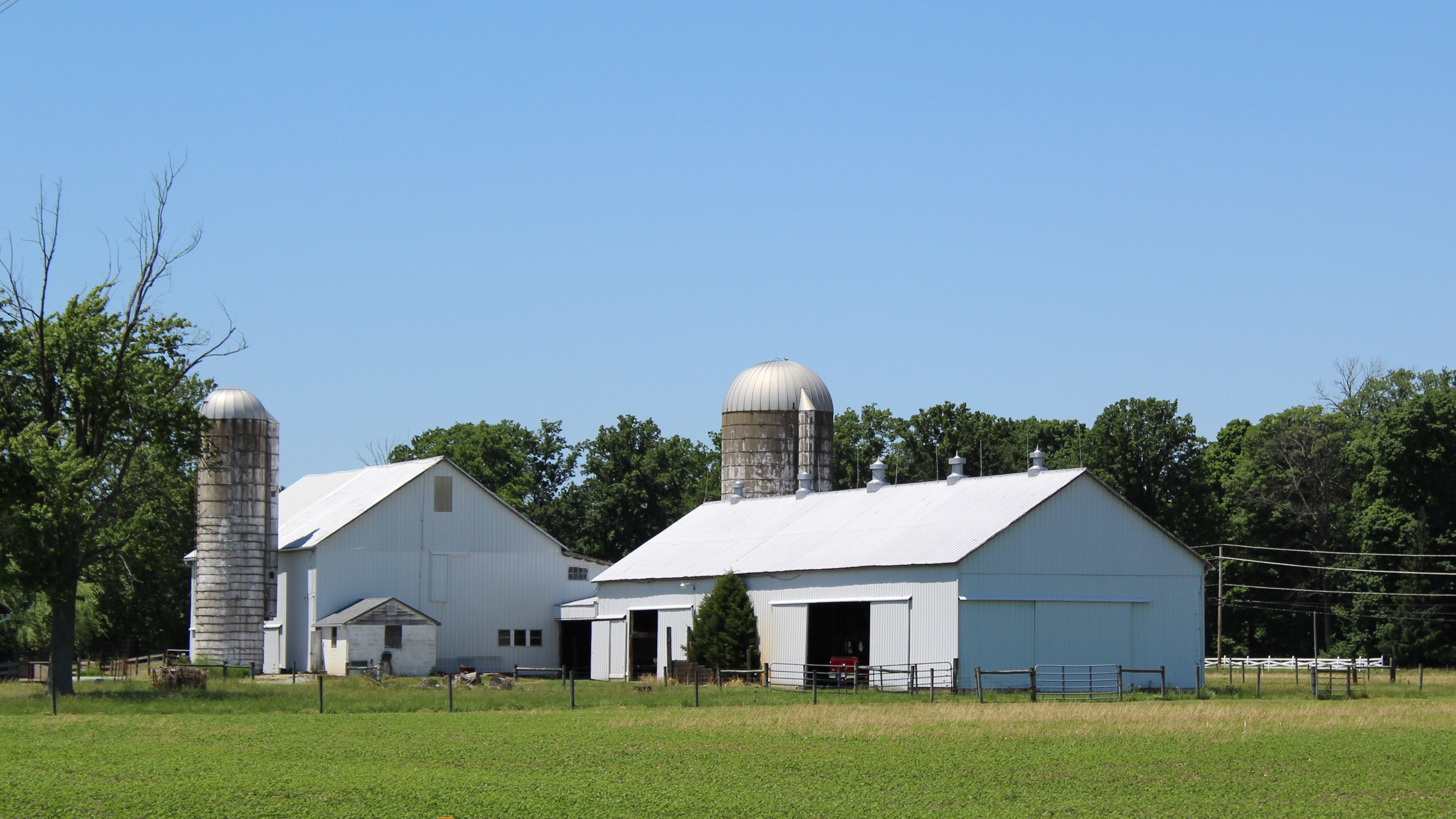 Free stock photo of farm, ohio, silo, spring landscape