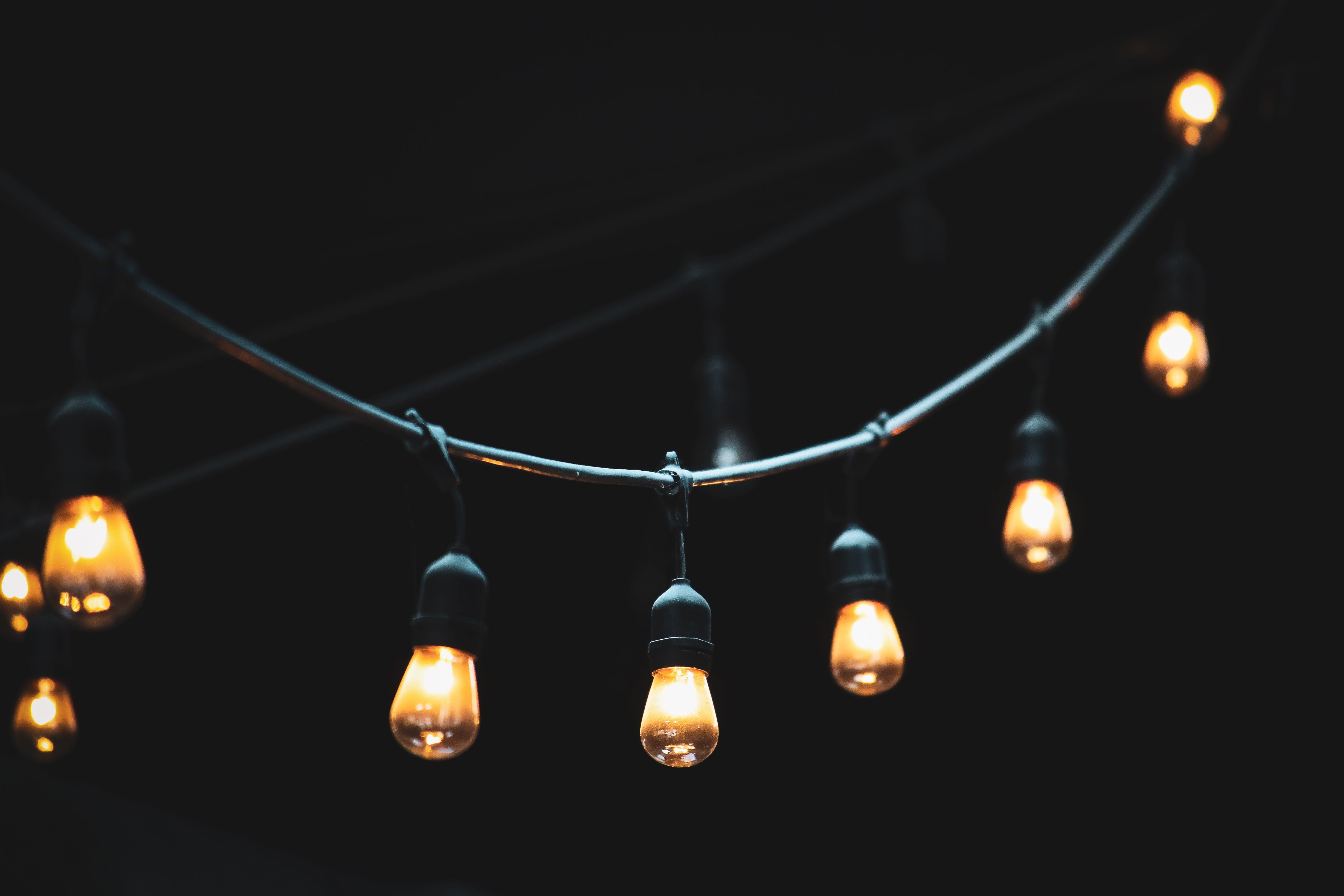 art, bright, bulbs