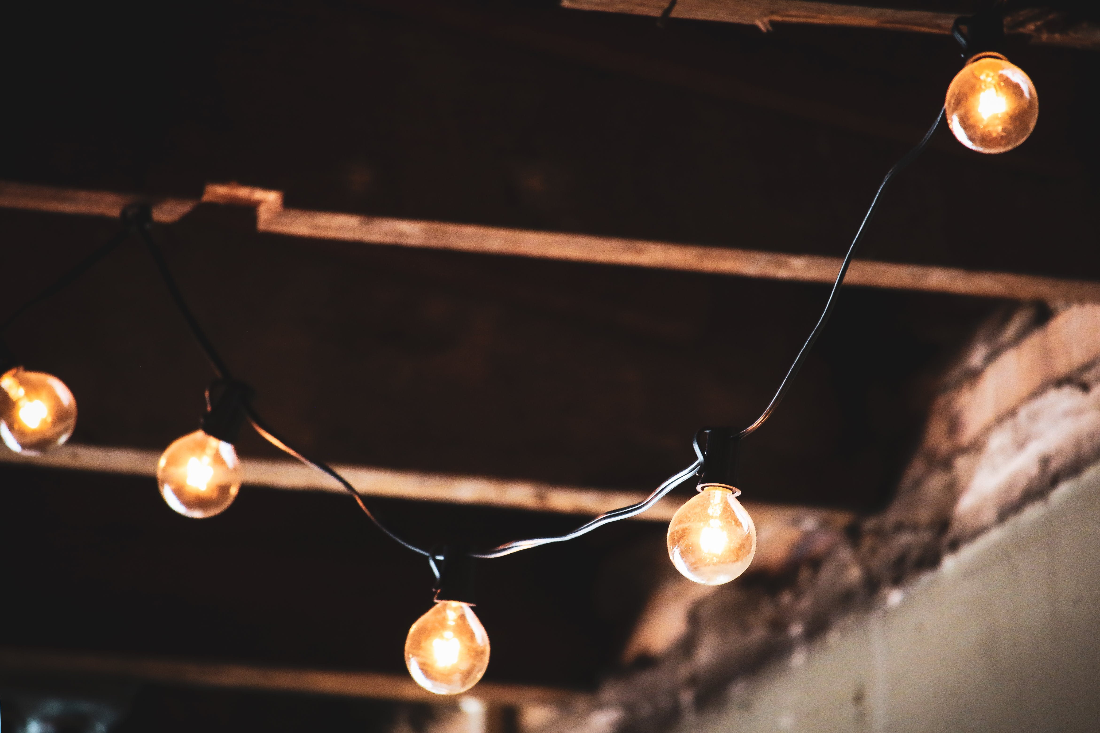 Free stock photo of lights, dark, ceiling, design