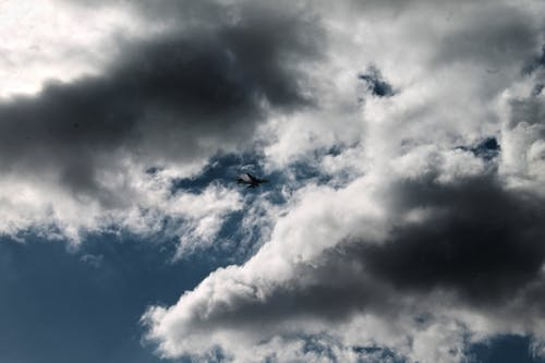 Free stock photo of aeroplane, blue skies, cloud, cloudy