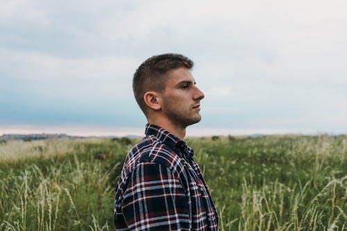 Základová fotografie zdarma na téma focení, hřiště, kostkovaná košile, krajina