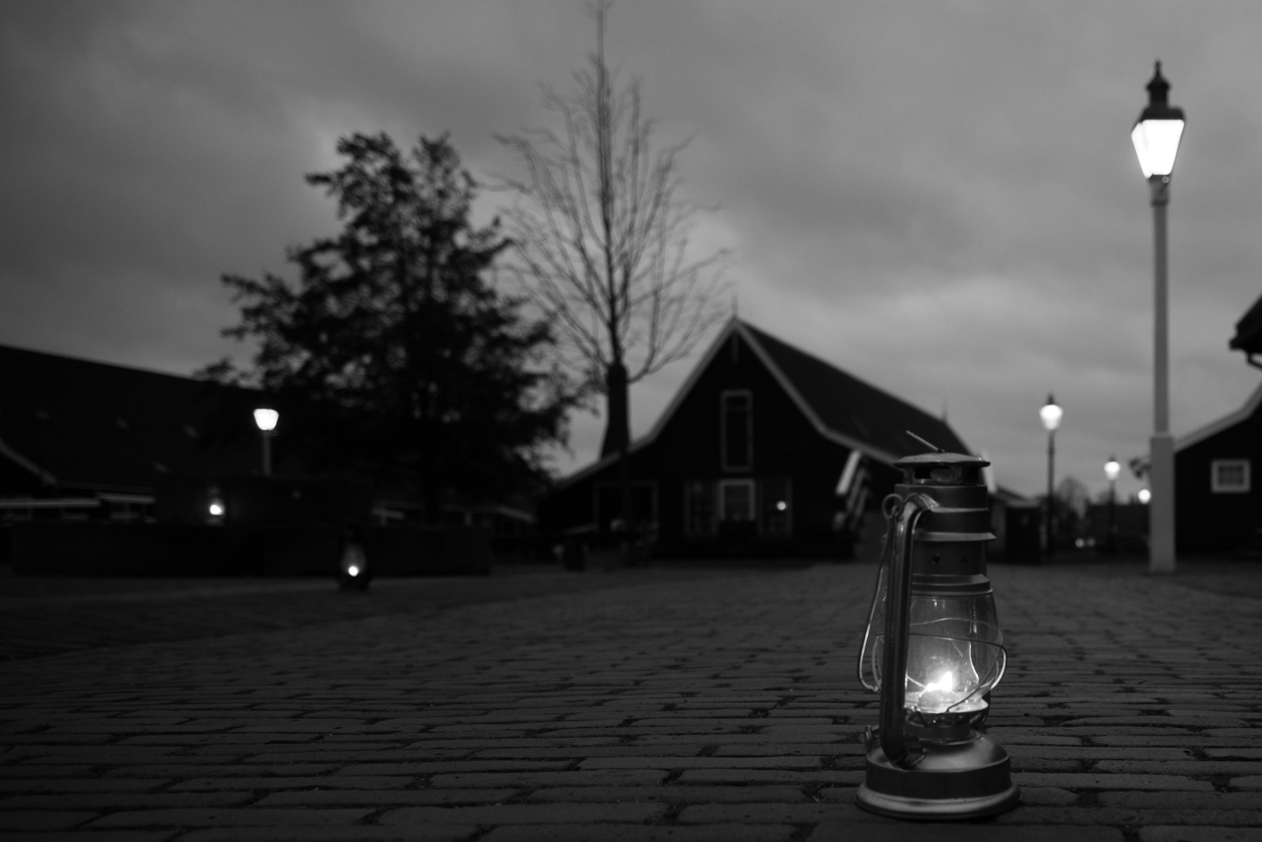 Free stock photo of black, city, dark, lamp