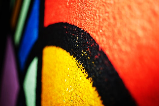 Free stock photo of colourful, wall art