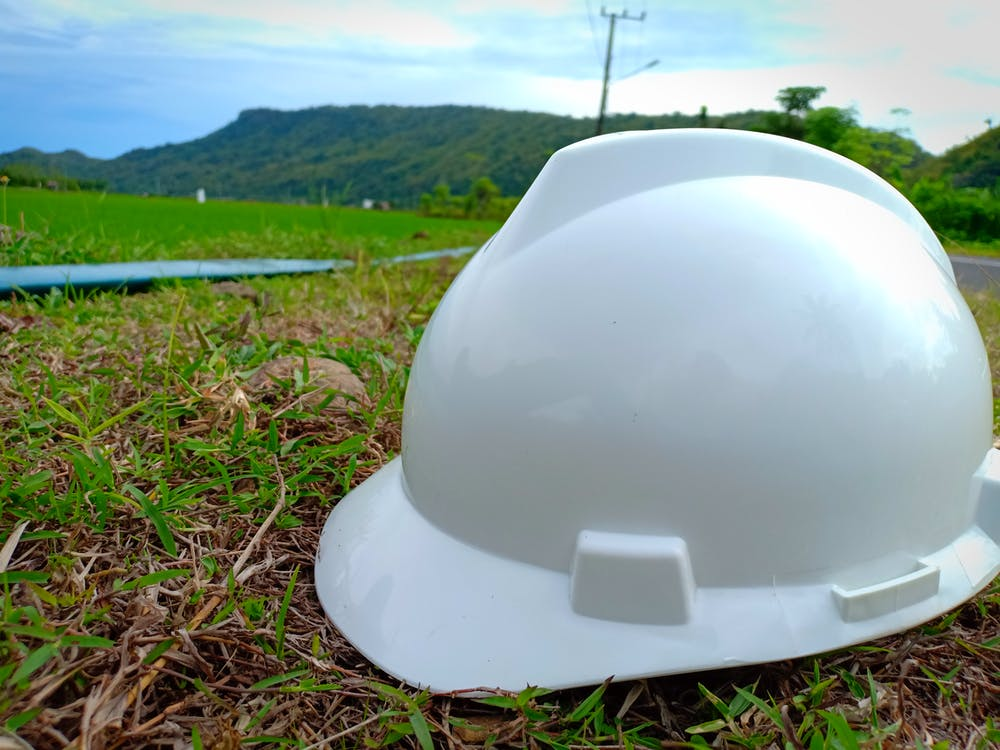 construction, green, helmet