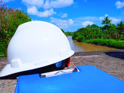 Free stock photo of bridge, construction, helmet, indonesia
