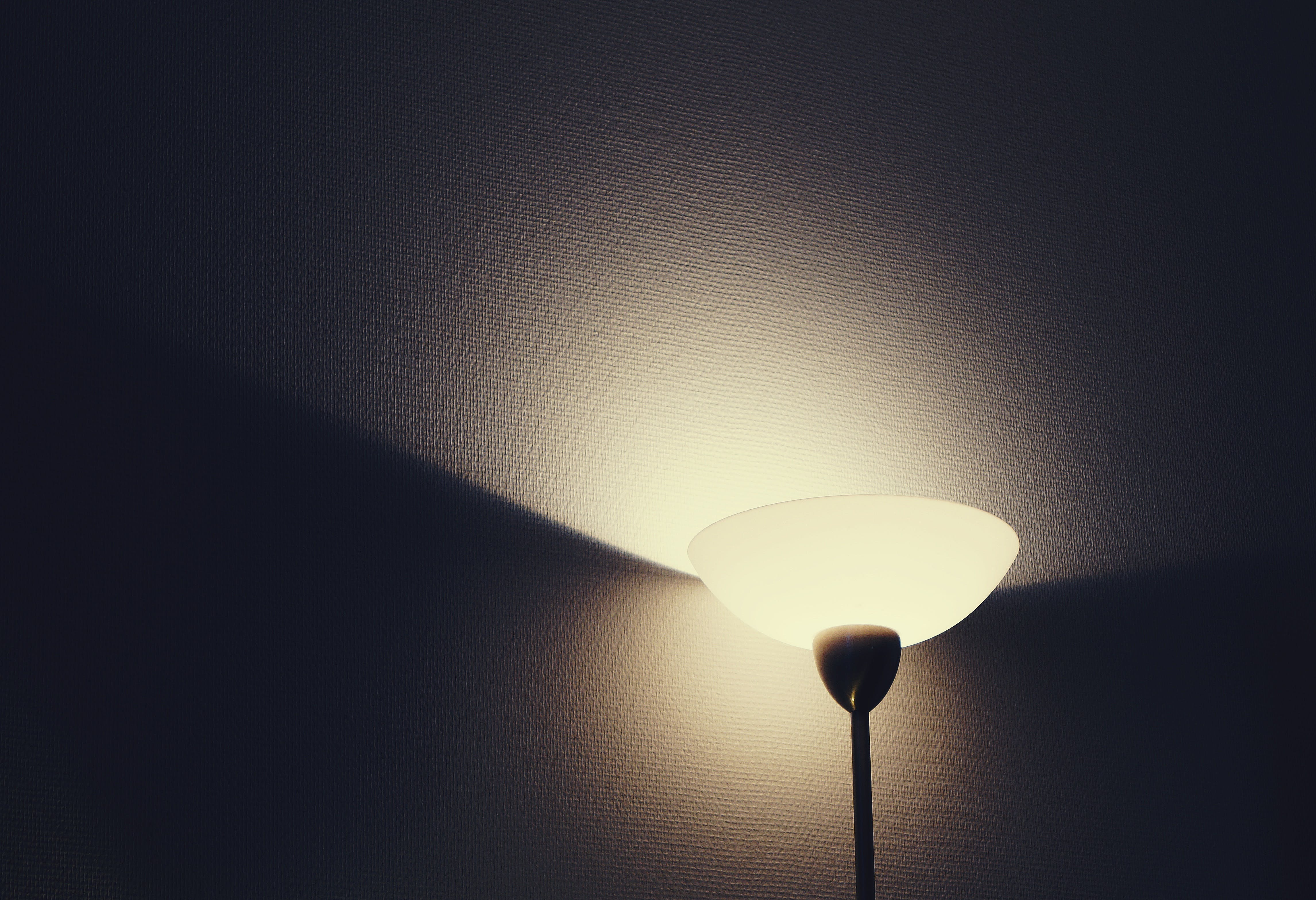 Black and White Stand Lamp
