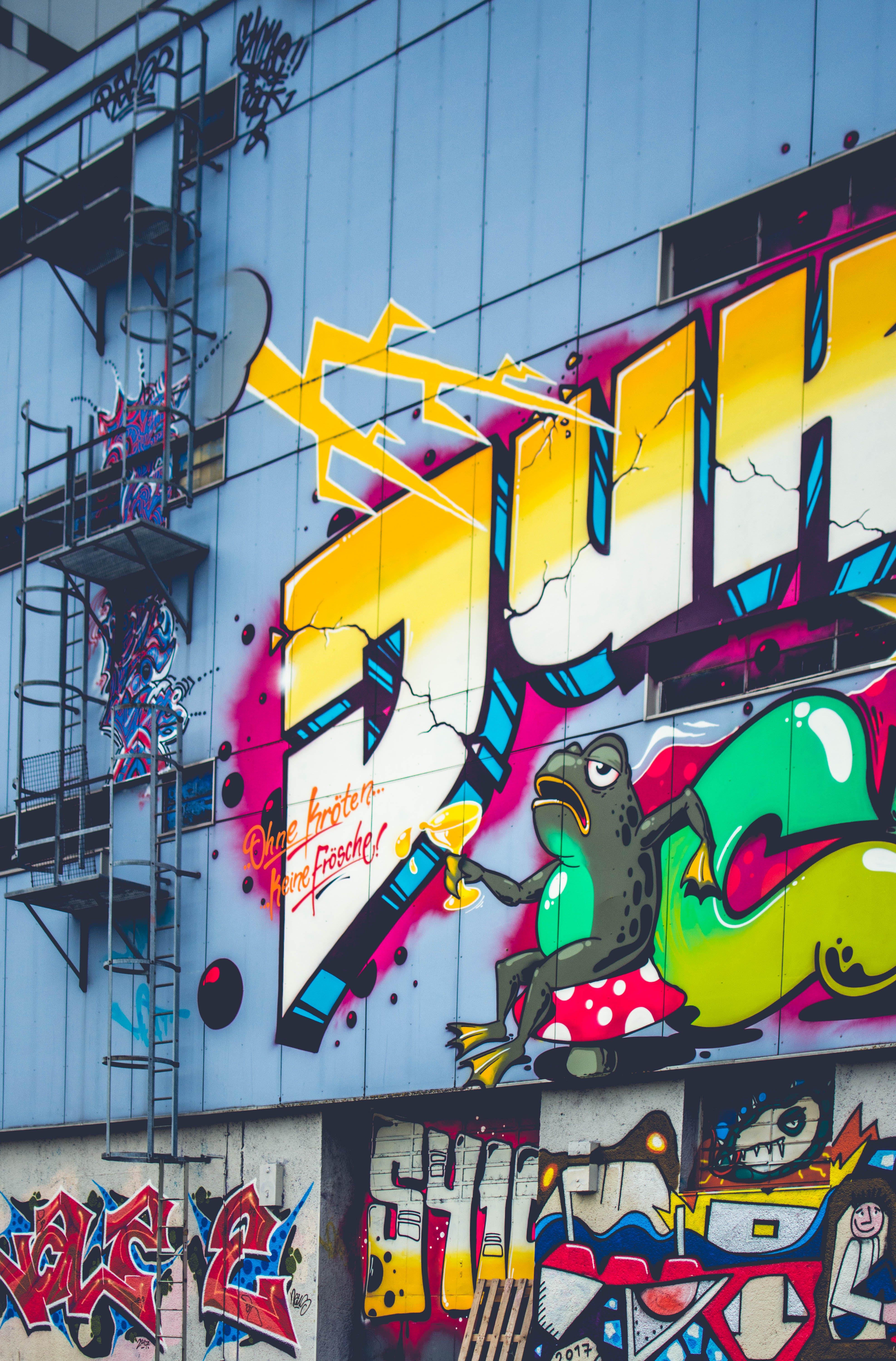 Free stock photo of art, street, graffiti, colorful