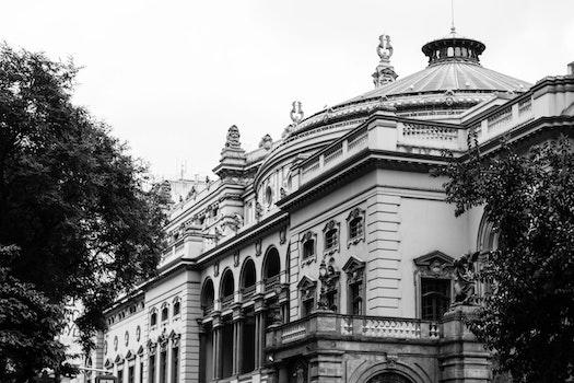 Free stock photo of black-and-white, city, landscape, landmark