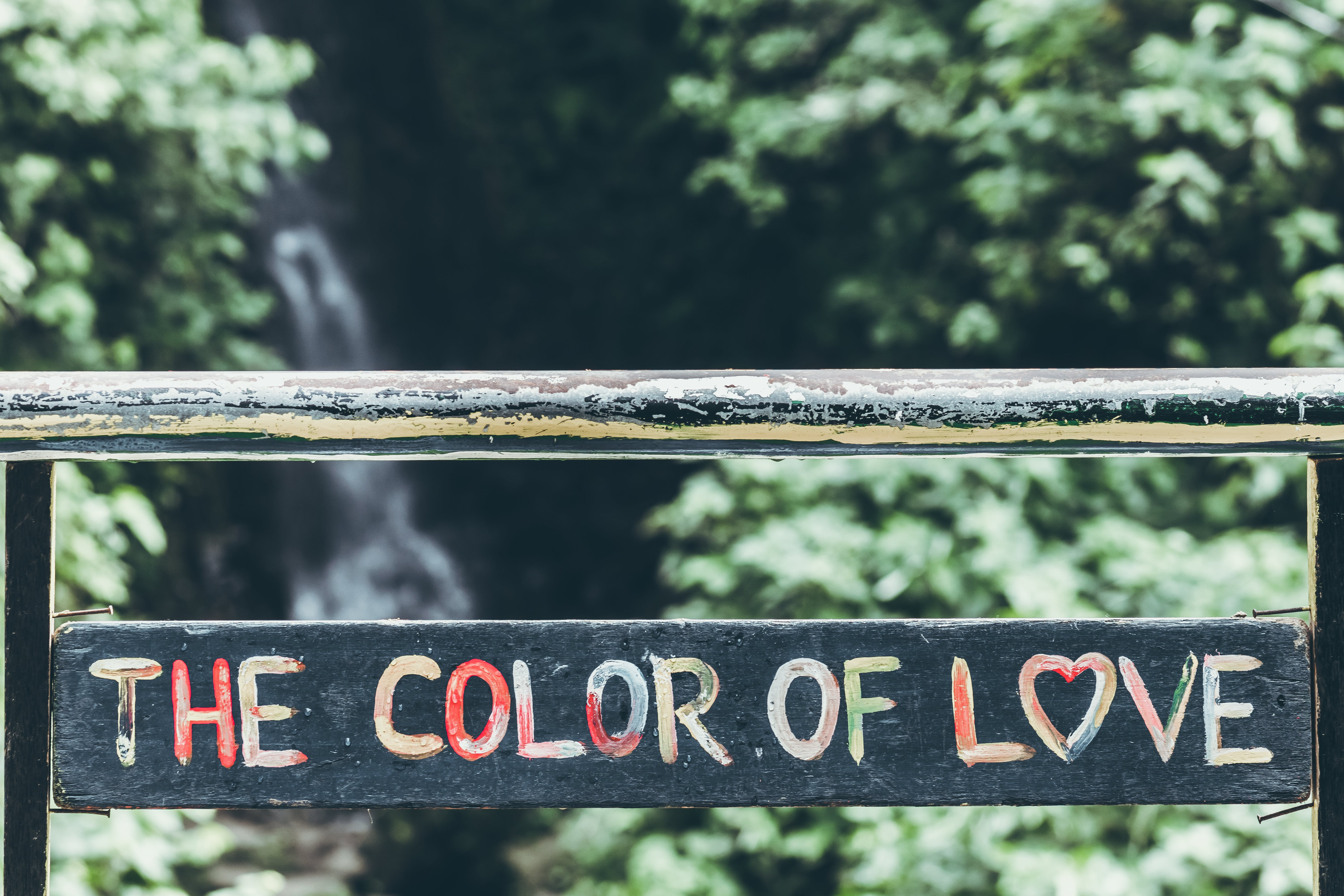 Black, Pink, Green, and Blue the Color of Love-printed Wall Decoration