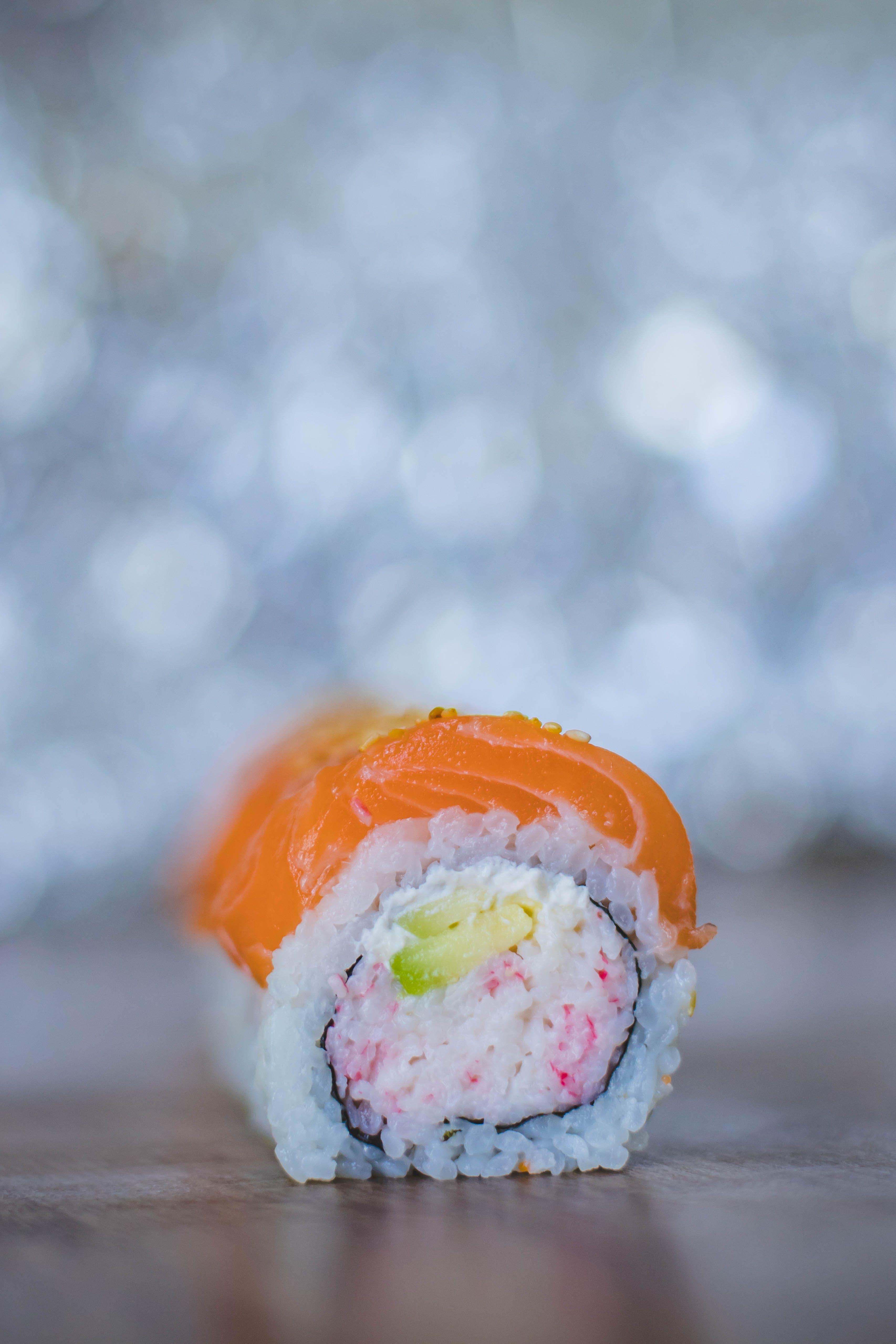 Close-up Photography of Sushi