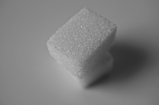 Free stock photo of black-and-white, sugar, cubes