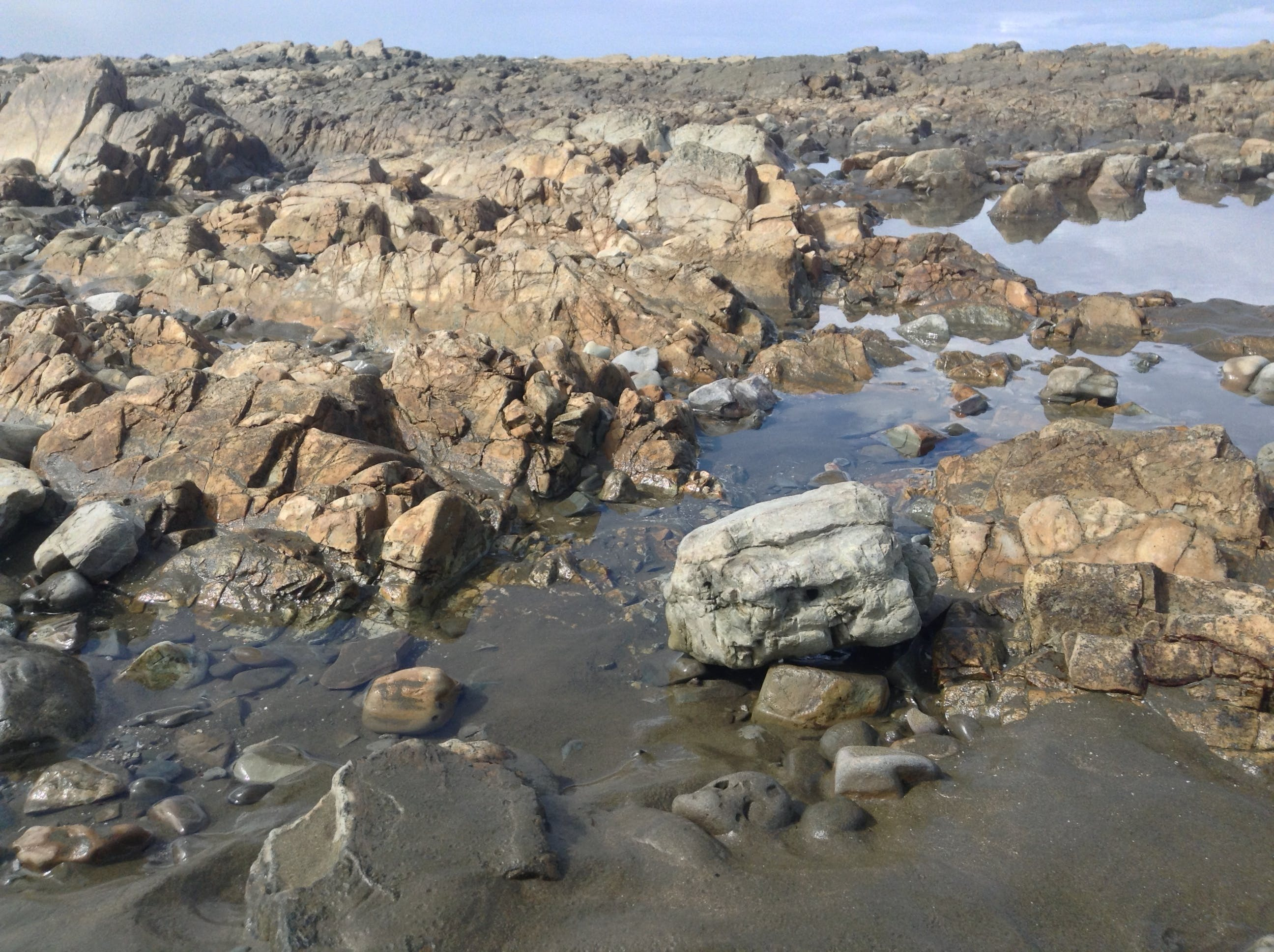 Free stock photo of sky, water, desert, rocks
