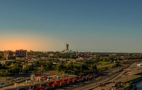 Бесплатное стоковое фото с вид на город, изображение, монреаль