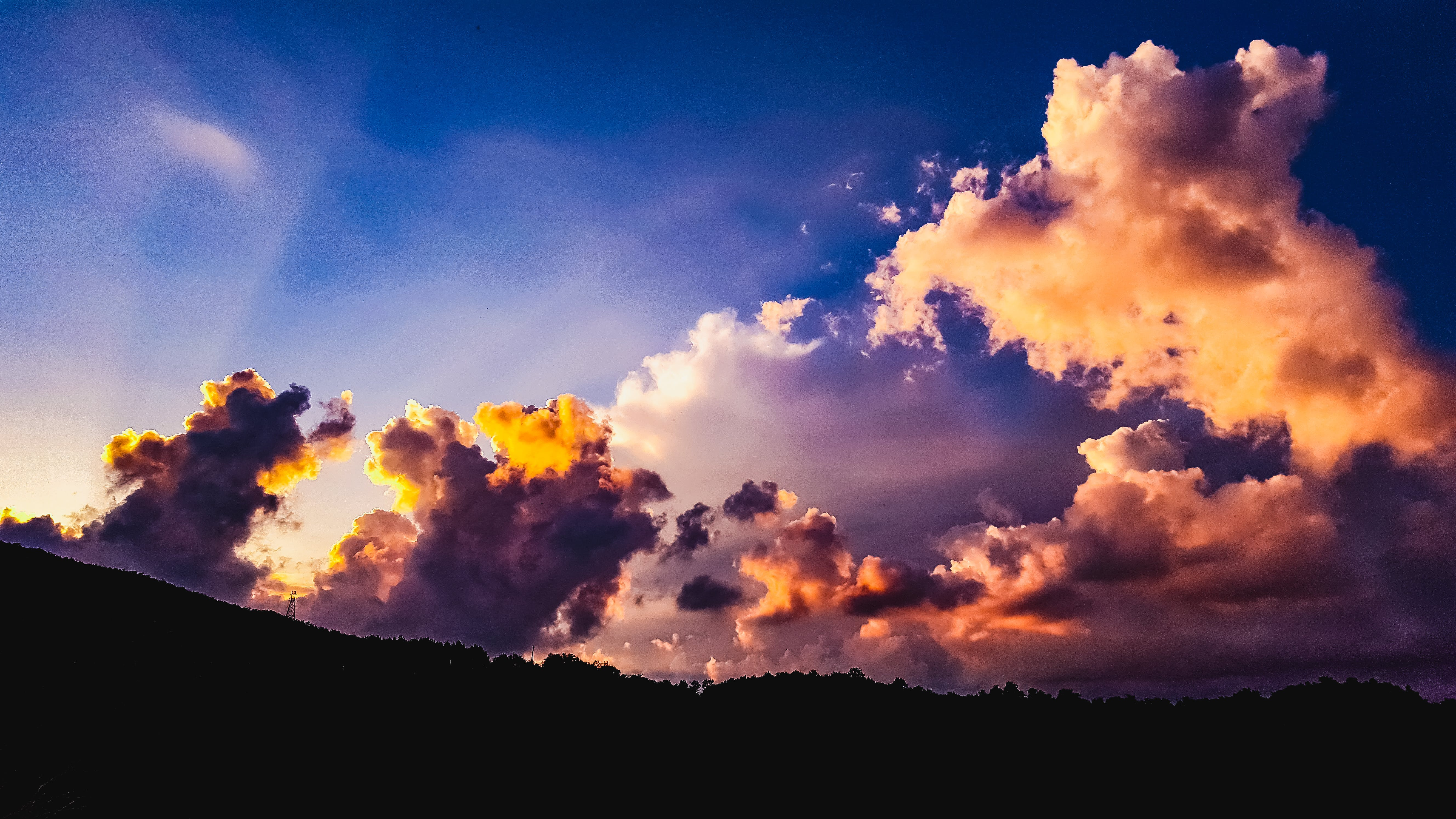Free stock photo of backlight, clouds, colors, golden sunset