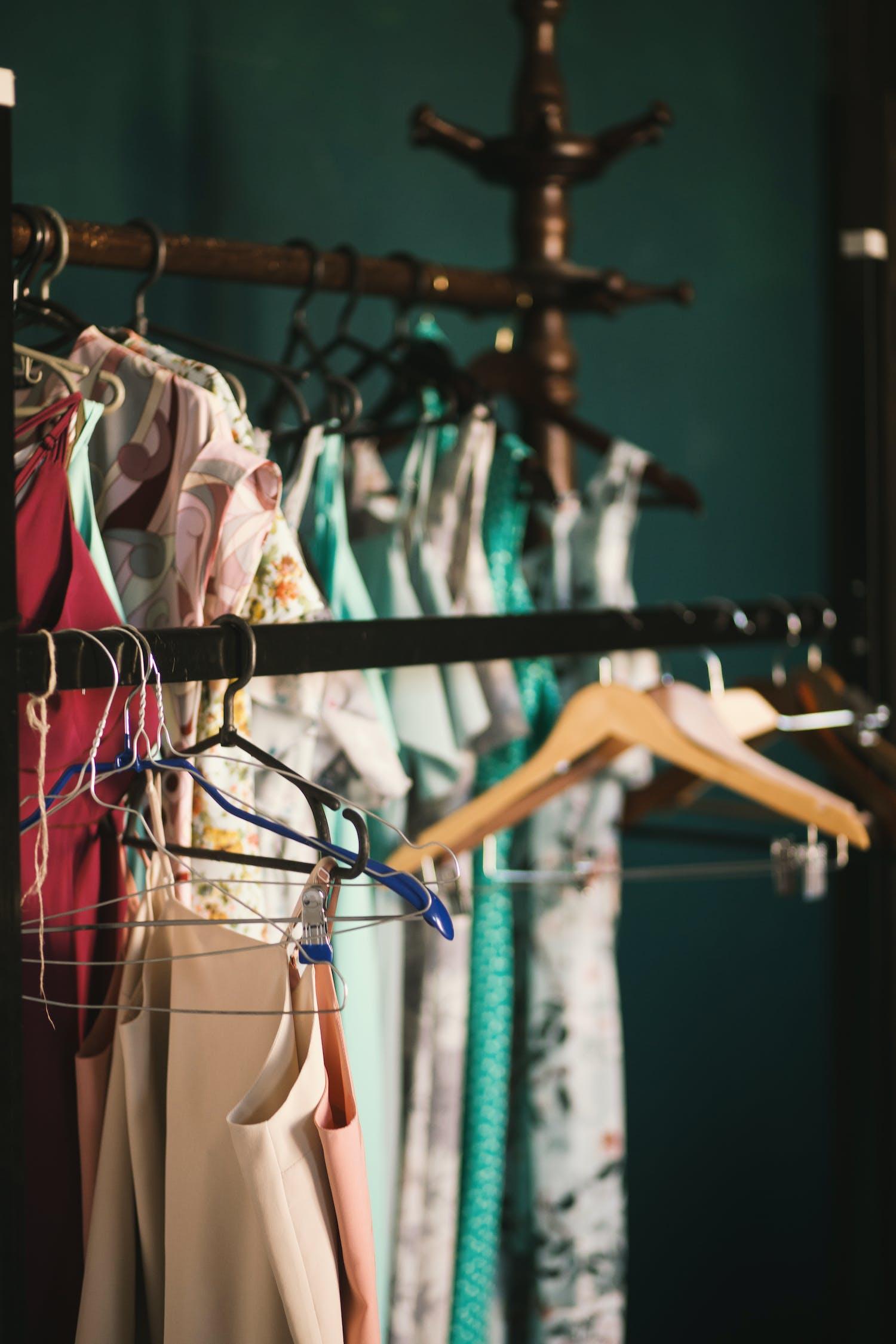 fashion, hängen, kleid