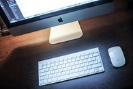 apple, desk, technology