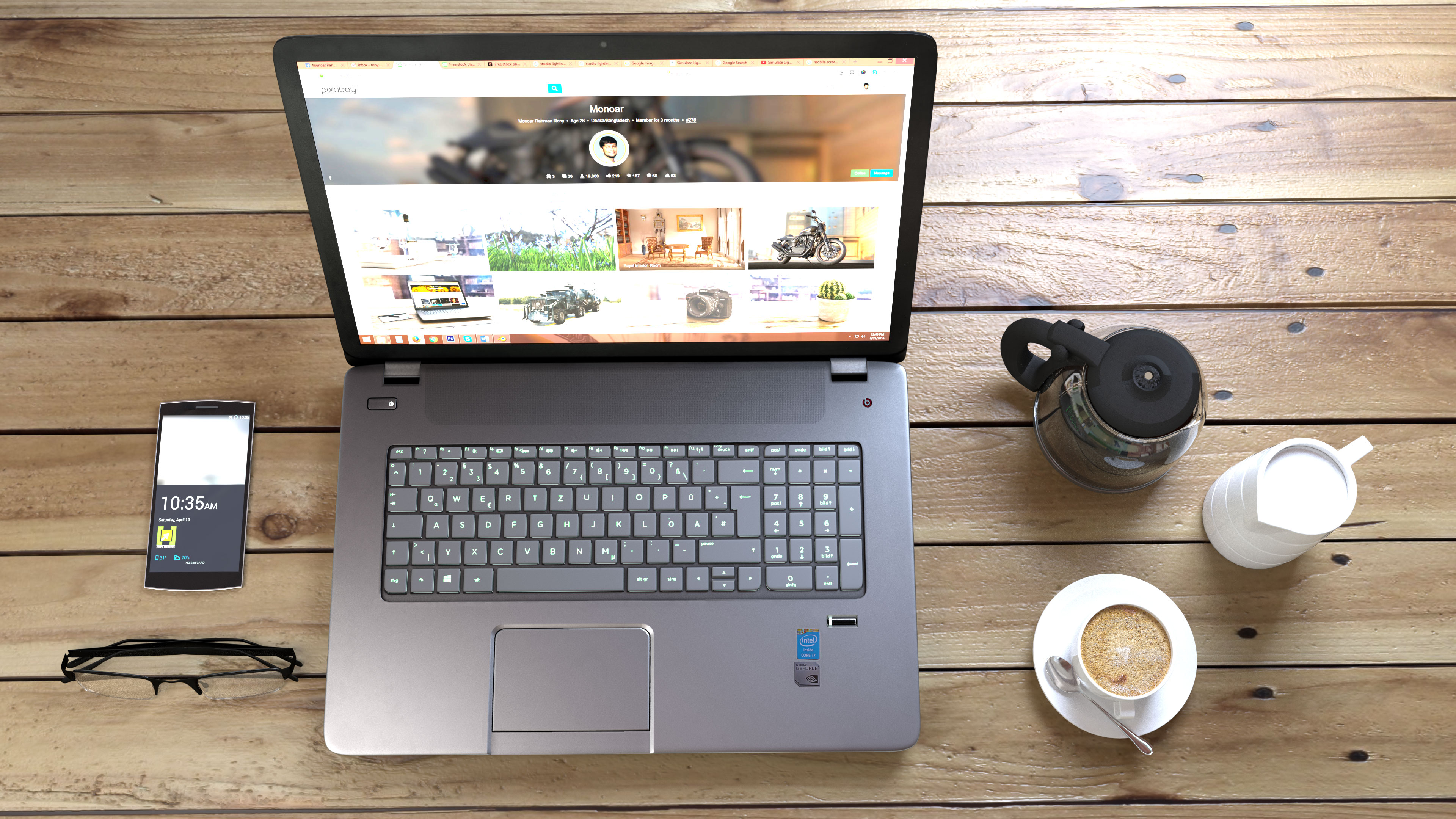 The best 17 inch laptops on a decorated desk