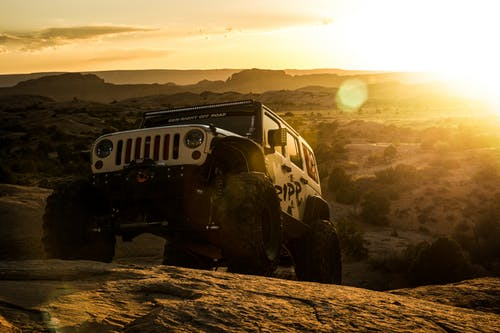 Free stock photo of 4k wallpaper, golden hour, jeep, jeep jk