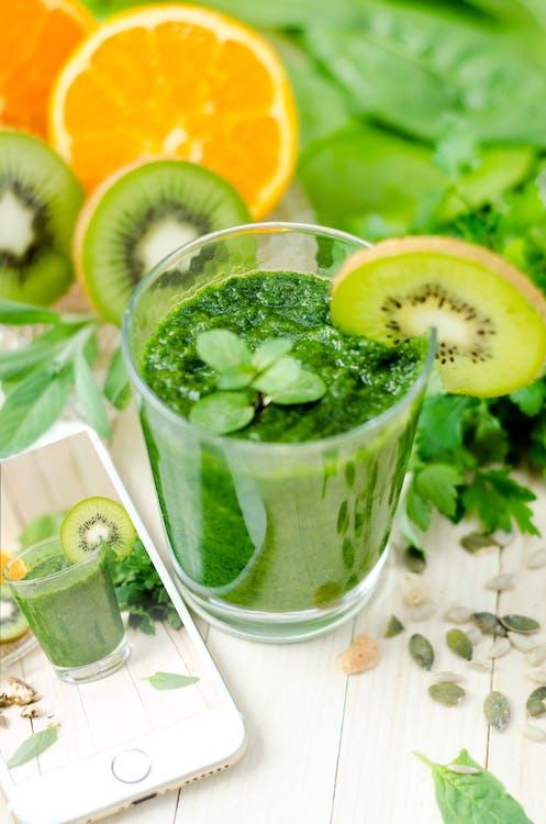 Kiwi Juice on Glass