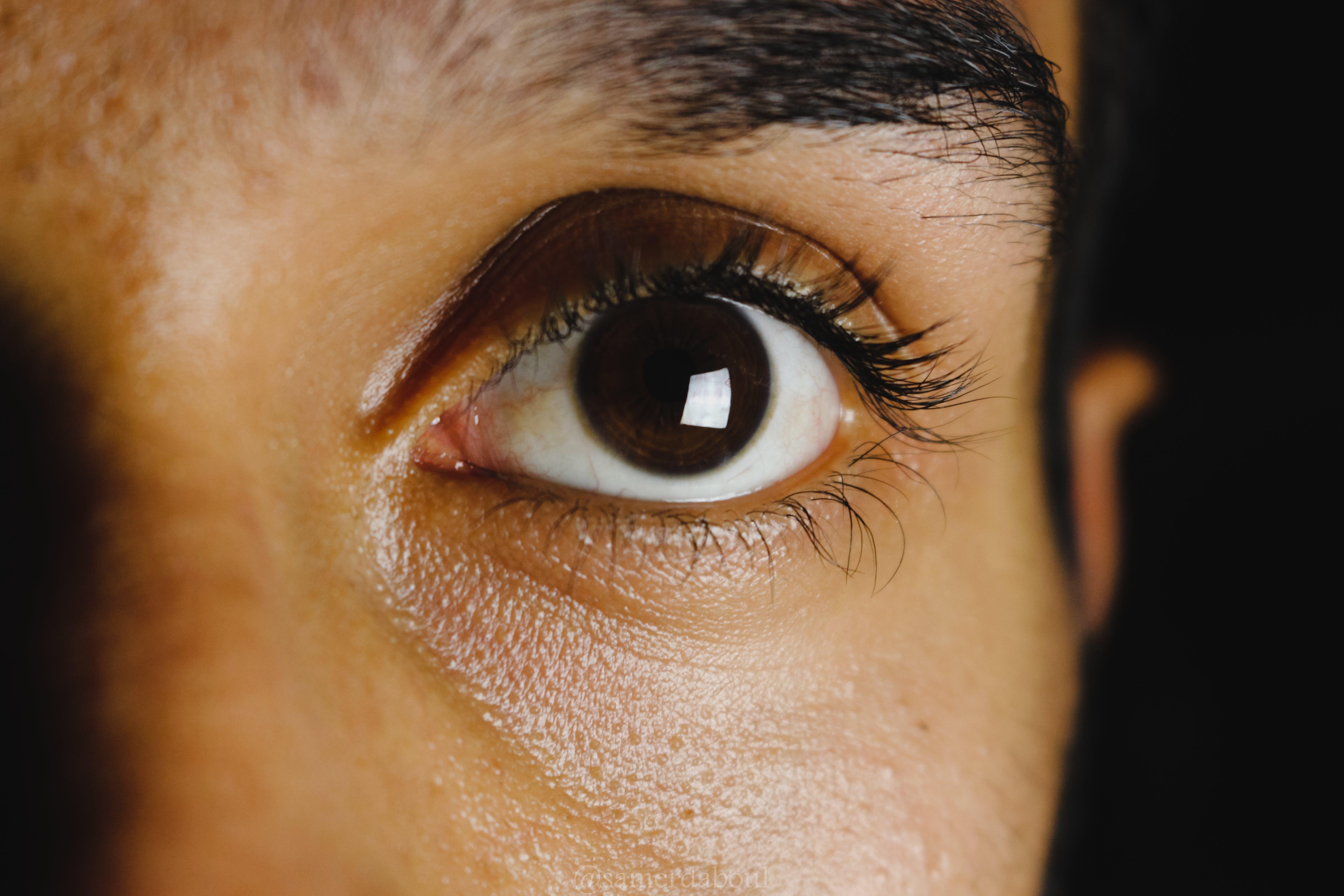 big eyes, close-up, eye